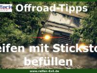 Reifen mit Stickstoff befüllen – ideal für Offroadfahrten