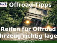 Reifen für Offroad Fahrzeug richtig lagern