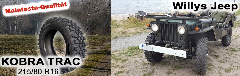 Kobra Trac und Willys Jeep