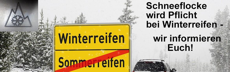 Schneeflocke - Informationen zur neuen Kennzeichnungspflicht bei Winterreifen